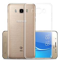 Cover Silicone Trasparente Ultra Sottile Morbida T02 per Samsung Galaxy J5 (2016) J510FN J5108 Chiaro