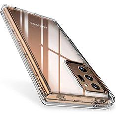 Cover Silicone Trasparente Ultra Sottile Morbida T02 per Samsung Galaxy Note 20 Ultra 5G Chiaro