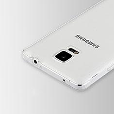 Cover Silicone Trasparente Ultra Sottile Morbida T02 per Samsung Galaxy Note 4 Duos N9100 Dual SIM Chiaro