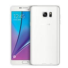 Cover Silicone Trasparente Ultra Sottile Morbida T02 per Samsung Galaxy Note 5 N9200 N920 N920F Chiaro
