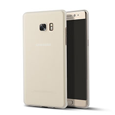 Cover Silicone Trasparente Ultra Sottile Morbida T02 per Samsung Galaxy Note 7 Chiaro