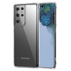 Cover Silicone Trasparente Ultra Sottile Morbida T02 per Samsung Galaxy S21 Ultra 5G Chiaro