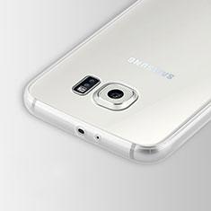 Cover Silicone Trasparente Ultra Sottile Morbida T02 per Samsung Galaxy S6 Duos SM-G920F G9200 Chiaro