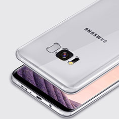 Cover Silicone Trasparente Ultra Sottile Morbida T02 per Samsung Galaxy S8 Chiaro