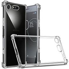 Cover Silicone Trasparente Ultra Sottile Morbida T02 per Sony Xperia XZ1 Compact Chiaro