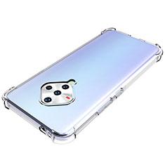 Cover Silicone Trasparente Ultra Sottile Morbida T02 per Vivo X50e 5G Chiaro
