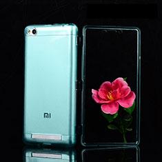 Cover Silicone Trasparente Ultra Sottile Morbida T02 per Xiaomi Redmi 3 Blu