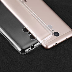 Cover Silicone Trasparente Ultra Sottile Morbida T02 per Xiaomi Redmi Note 3 Chiaro