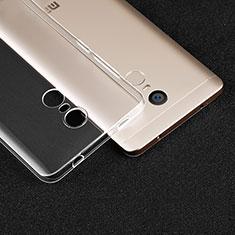 Cover Silicone Trasparente Ultra Sottile Morbida T02 per Xiaomi Redmi Note 4 Chiaro