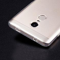 Cover Silicone Trasparente Ultra Sottile Morbida T02 per Xiaomi Redmi Note 4X Chiaro