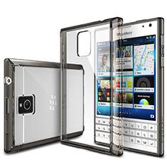 Cover Silicone Trasparente Ultra Sottile Morbida T03 per Blackberry Passport Q30 Grigio
