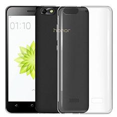 Cover Silicone Trasparente Ultra Sottile Morbida T03 per Huawei G Play Mini Chiaro