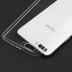 Cover Silicone Trasparente Ultra Sottile Morbida T03 per Huawei Honor 6 Plus Chiaro