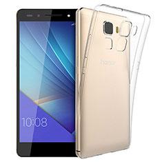 Cover Silicone Trasparente Ultra Sottile Morbida T03 per Huawei Honor 7 Chiaro