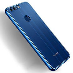 Cover Silicone Trasparente Ultra Sottile Morbida T03 per Huawei Honor 8 Blu