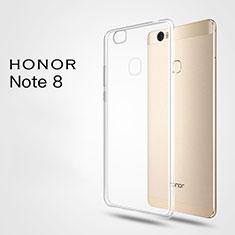 Cover Silicone Trasparente Ultra Sottile Morbida T03 per Huawei Honor Note 8 Chiaro