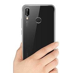 Cover Silicone Trasparente Ultra Sottile Morbida T03 per Huawei P20 Lite Chiaro