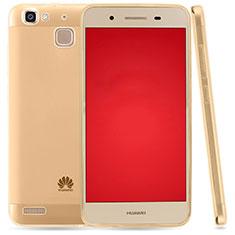 Cover Silicone Trasparente Ultra Sottile Morbida T03 per Huawei P8 Lite Smart Oro