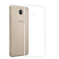 Cover Silicone Trasparente Ultra Sottile Morbida T03 per Huawei Y6 (2017) Chiaro