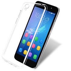 Cover Silicone Trasparente Ultra Sottile Morbida T03 per Huawei Y6 Chiaro
