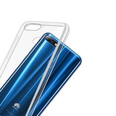 Cover Silicone Trasparente Ultra Sottile Morbida T03 per Huawei Y7 (2018) Chiaro