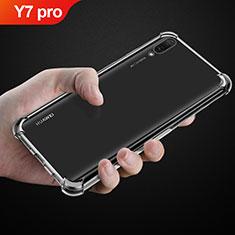 Cover Silicone Trasparente Ultra Sottile Morbida T03 per Huawei Y7 (2019) Chiaro
