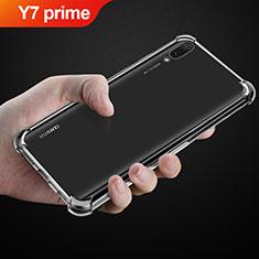Cover Silicone Trasparente Ultra Sottile Morbida T03 per Huawei Y7 Prime (2019) Chiaro