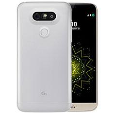 Cover Silicone Trasparente Ultra Sottile Morbida T03 per LG G5 Chiaro