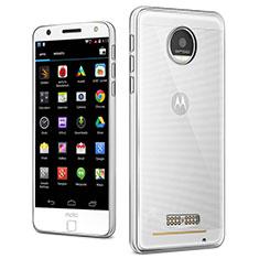 Cover Silicone Trasparente Ultra Sottile Morbida T03 per Motorola Moto Z Play Chiaro