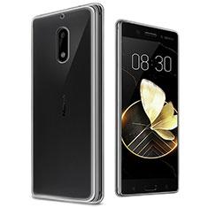 Cover Silicone Trasparente Ultra Sottile Morbida T03 per Nokia 6 Chiaro
