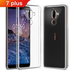 Cover Silicone Trasparente Ultra Sottile Morbida T03 per Nokia 7 Plus Chiaro