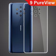 Cover Silicone Trasparente Ultra Sottile Morbida T03 per Nokia 9 PureView Chiaro