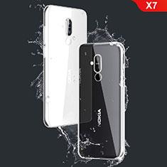 Cover Silicone Trasparente Ultra Sottile Morbida T03 per Nokia X7 Chiaro