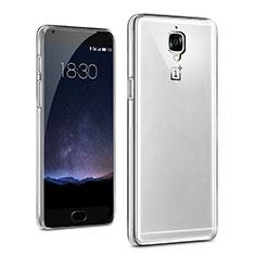 Cover Silicone Trasparente Ultra Sottile Morbida T03 per OnePlus 3 Chiaro