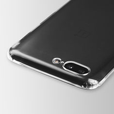 Cover Silicone Trasparente Ultra Sottile Morbida T03 per OnePlus 5 Chiaro