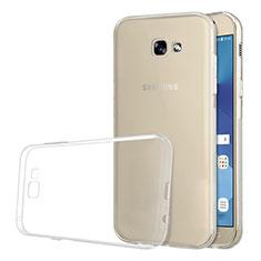 Cover Silicone Trasparente Ultra Sottile Morbida T03 per Samsung Galaxy A5 (2017) Duos Chiaro