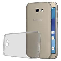 Cover Silicone Trasparente Ultra Sottile Morbida T03 per Samsung Galaxy A5 (2017) SM-A520F Grigio