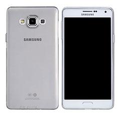 Cover Silicone Trasparente Ultra Sottile Morbida T03 per Samsung Galaxy A7 Duos SM-A700F A700FD Chiaro