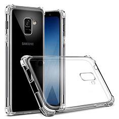 Cover Silicone Trasparente Ultra Sottile Morbida T03 per Samsung Galaxy A8+ A8 Plus (2018) Duos A730F Chiaro