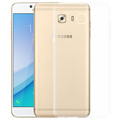 Cover Silicone Trasparente Ultra Sottile Morbida T03 per Samsung Galaxy C5 Pro C5010 Chiaro