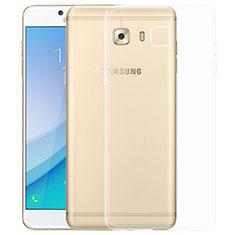 Cover Silicone Trasparente Ultra Sottile Morbida T03 per Samsung Galaxy C7 Pro C7010 Chiaro