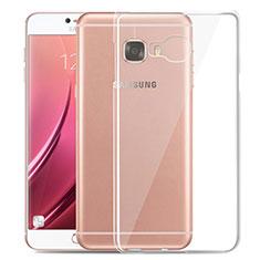 Cover Silicone Trasparente Ultra Sottile Morbida T03 per Samsung Galaxy C7 SM-C7000 Chiaro