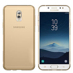 Cover Silicone Trasparente Ultra Sottile Morbida T03 per Samsung Galaxy C8 C710F Oro