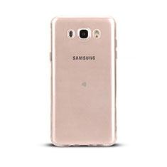 Cover Silicone Trasparente Ultra Sottile Morbida T03 per Samsung Galaxy J5 (2016) J510FN J5108 Chiaro