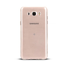 Cover Silicone Trasparente Ultra Sottile Morbida T03 per Samsung Galaxy J5 Duos (2016) Chiaro