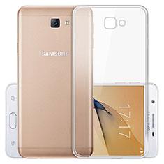 Cover Silicone Trasparente Ultra Sottile Morbida T03 per Samsung Galaxy J5 Prime G570F Chiaro