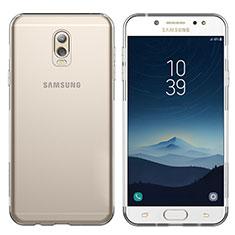 Cover Silicone Trasparente Ultra Sottile Morbida T03 per Samsung Galaxy J7 Plus Chiaro