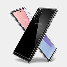Cover Silicone Trasparente Ultra Sottile Morbida T03 per Samsung Galaxy Note 10 Plus 5G Chiaro
