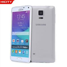 Cover Silicone Trasparente Ultra Sottile Morbida T03 per Samsung Galaxy Note 4 Duos N9100 Dual SIM Chiaro