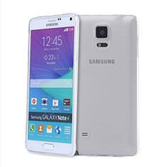 Cover Silicone Trasparente Ultra Sottile Morbida T03 per Samsung Galaxy Note 4 SM-N910F Chiaro